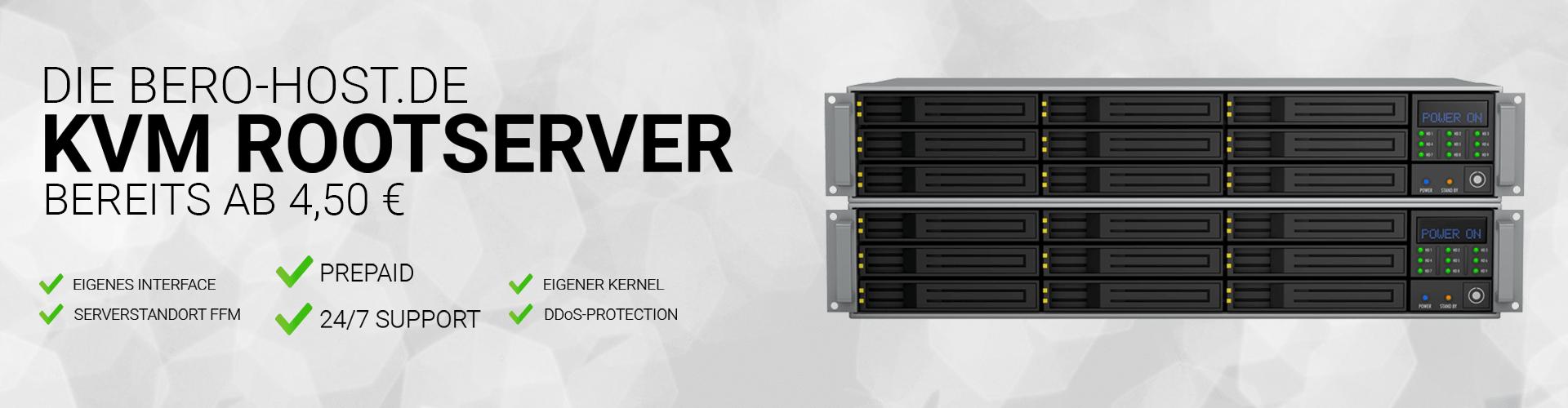 Günstige Prepaid SSD KVM Rootserver Server ab 4,50€ pro Monat