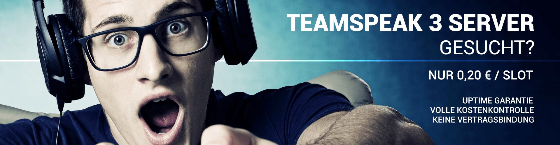 Günstige Prepaid TeamSpeak3 Server ab 0,20€ pro Monat